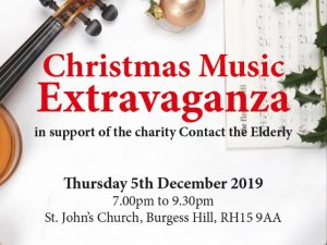 Charity Christmas Music Extravaganza Flyer